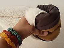 Obuv - Barefoot Merino wool Slippers / Capacky - 5792984_