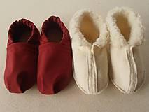 Obuv - Barefoot Merino wool Slippers / Capacky - 5792985_