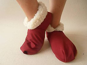 Obuv - Barefoot Merino wool Slippers / Capacky - 5792990_