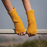 Horčicové rukavice bez prstov