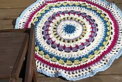Úžitkový textil - Farebný vlnený koberec - 5793114_