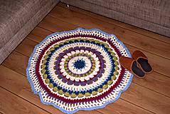Úžitkový textil - Farebný vlnený koberec - 5793115_