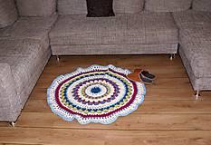 Úžitkový textil - Farebný vlnený koberec - 5793116_