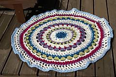Úžitkový textil - Farebný vlnený koberec - 5793119_