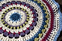 Úžitkový textil - Farebný vlnený koberec - 5793120_