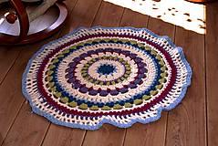 Úžitkový textil - Farebný vlnený koberec - 5793122_