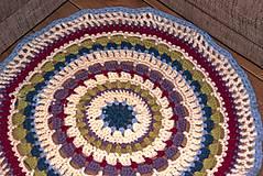 Úžitkový textil - Farebný vlnený koberec - 5793123_