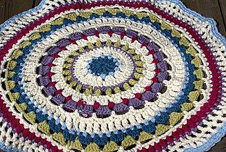 Úžitkový textil - Farebný vlnený koberec - 5793121_