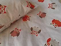Textil - Detské obliečky bavlnené 100 x 140 / 40 x 60 cm Sovička - 5795903_