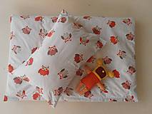 Textil - Detské obliečky bavlnené 100 x 140 / 40 x 60 cm Sovička - 5795904_