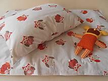 Textil - Detské obliečky bavlnené 100 x 140 / 40 x 60 cm Sovička - 5795905_