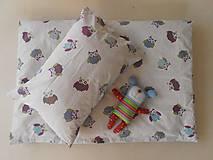 Textil - Detské obliečky bavlnené 100 x 135 / 40 x 60 cm Sovička - 5795915_