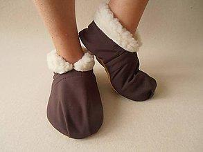 Obuv - Barefoot Merino wool Slippers / Capačky - 5793004_