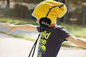 Detské čiapky - Wifi čiapka -žltá zimná - 5795811_