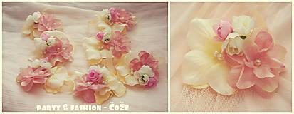 Náramky - Romantické ružovkasté náramky pre družičky - 5796695_