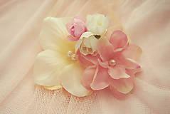 Náramky - Romantické ružovkasté náramky pre družičky - 5796700_
