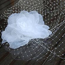 Ozdoby do vlasov - Francouzský svatební závoj Rose - 5804681_