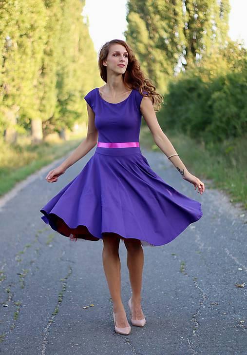 Šaty s kruhovou sukňou MIDI (na miery)   ZuzanaZachar - SAShE.sk ... e9c310319a3