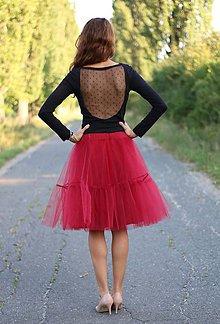 Sukne - Tylová sukňa s volánom - 5800134_