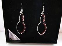 Náušnice - Červené hruštičky v krabičke - 5802664_