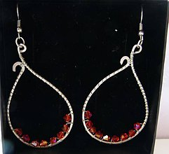 Náušnice - Oranžovo-červené slzy - 5802467_