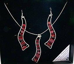 Sady šperkov - Červené trubadúrky v krabičke - 5802628_