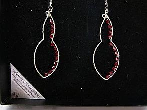 Náušnice - Červené hruštičky v krabičke - 5802661_
