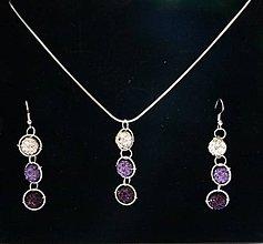 Sady šperkov - Svetlo-fialová shambalová sada - 5802744_
