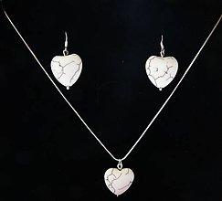 Sady šperkov - Biela srdiečková sada - 5802777_