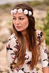 Ozdoby do vlasov - Romantická jemná čelenka s ružami :) - 5803987_