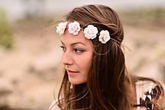 Ozdoby do vlasov - Romantická jemná čelenka s ružami :) - 5803990_
