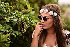 Ozdoby do vlasov - Romantická jemná čelenka s ružami :) - 5803992_