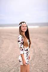 Ozdoby do vlasov - Romantická jemná čelenka s ružami :) - 5803994_