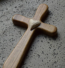 Dekorácie - Drevený krížik - 5801586_