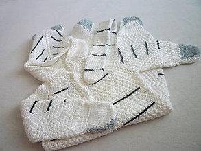 Detské oblečenie - pletený overal tigrík - 5801480_
