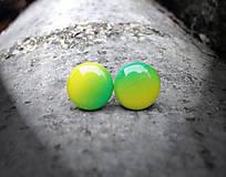 Krúžky 12 mm dúhové (zeleno-žlté)