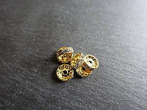 Komponenty - Rondelka 10mm f. zlatá - 5802353_