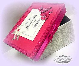 Papiernictvo - Krabica na svad. pohľadnice