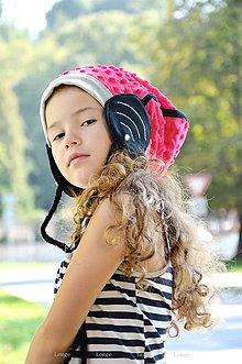 Detské čiapky - Wifi čiapka -ružová sýta zimná - 5800133_