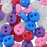 Galantéria - Plastové gombíčky 6mm (balíček 50ks) - 5800098_
