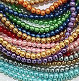 Sklenené korálky perličky 8mm EXTRA VEĽKÝ VÝHODNÝ (balíček 500ks)