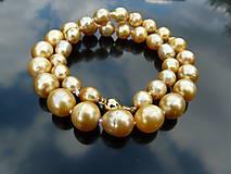 Náhrdelníky - Austrálske zlaté perly južných morí - náhrdelník - 5804119_