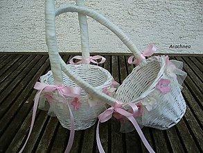 Košíky - košíček pre družičku (romantický) - 5807062_