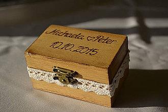 Prstene - krabička na prstienky s menami - 5806271_