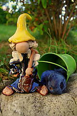 Socha - permoník-zahradník - 5804948_