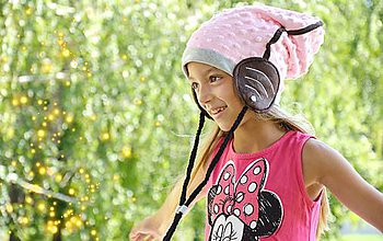 Detské čiapky - Wifi čiapka -light pink zimná - 5807776_