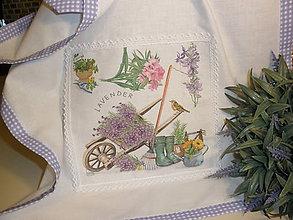 Úžitkový textil - Ozdobná kuchynská utierka-záhrada - 5807637_