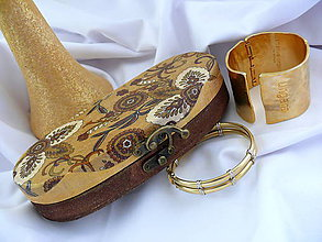 "Taštičky - Púzdro na okuliare ""Gold pigments"" :) - 5806367_"