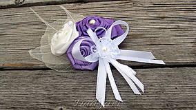 Svadobné pierko Bielo - Fijalôve