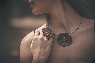 Prstene - Jantarový květ - prsten - autorský šperk - 5810589_